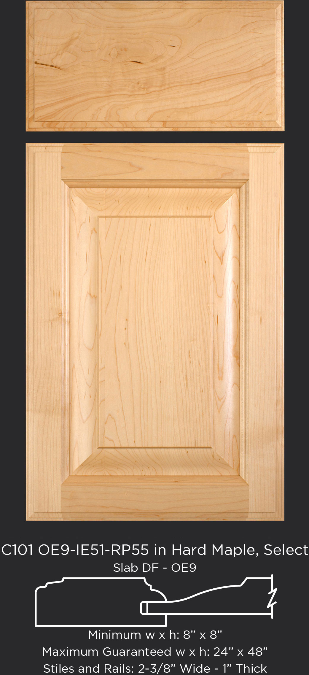 Ie51 1 Quot Thick Taylorcraft Cabinet Door Company