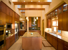 Contemporary maple veneer kitchen