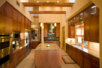 Contemporary edgebanded maple veneer kitchen cabinets & Modern Cabinet and Cabinet Door-TaylorCraft Cabinet Door Company
