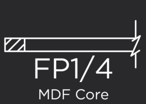 FP1/4 MDF Core Flat Panel