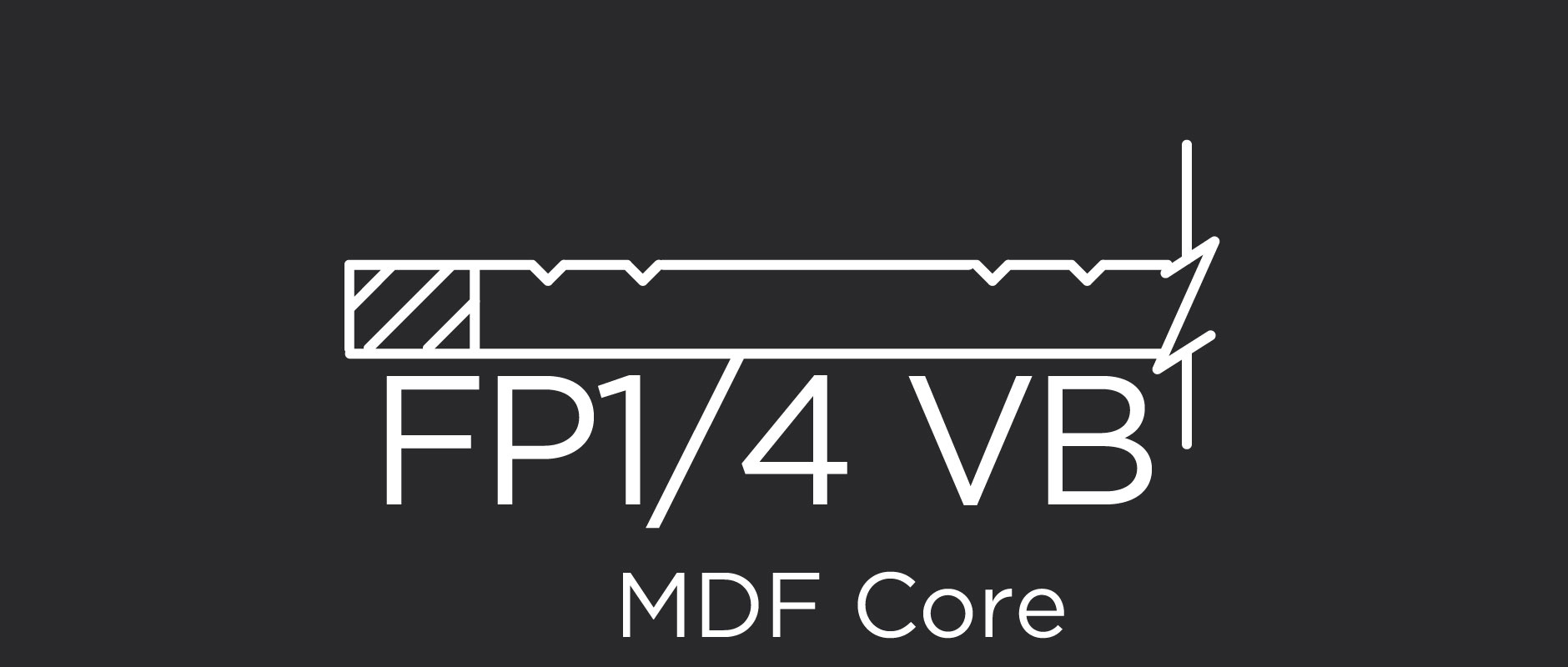 FP1/4 VB MDF core flat panel with beaded v-grove
