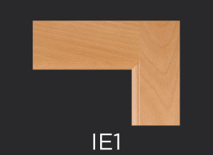 IE1 cope and stick cabinet door inside edge profile