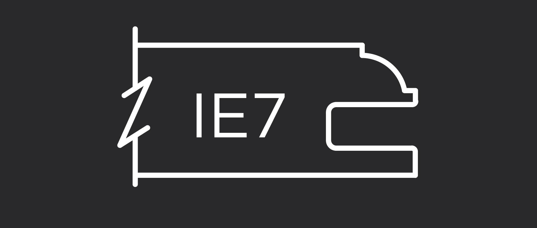IE7 inside edge profile