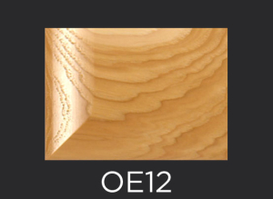 OE12 cope and stick cabinet door outside edge profile