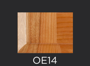 OE14 cope and stick cabinet door outside edge profile