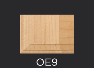 OE9 cope and stick cabinet door outside edge profile