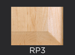 RP3 panel profile for mitered and cope and stick cabinet doors