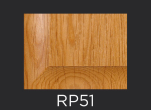 RP51 panel profile for mitered and cope and stick cabinet doors
