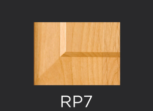 RP7 panel profile for mitered and cope and stick cabinet doors