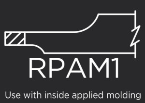 RPAM1 raised panel for applied molding doors