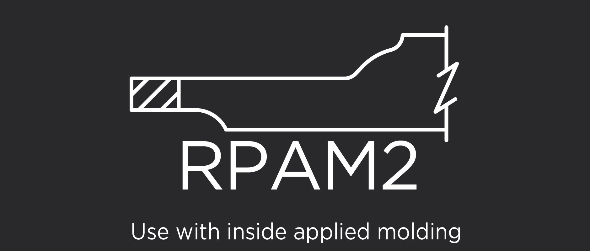 RPAM2 raised panel for applied molding doors