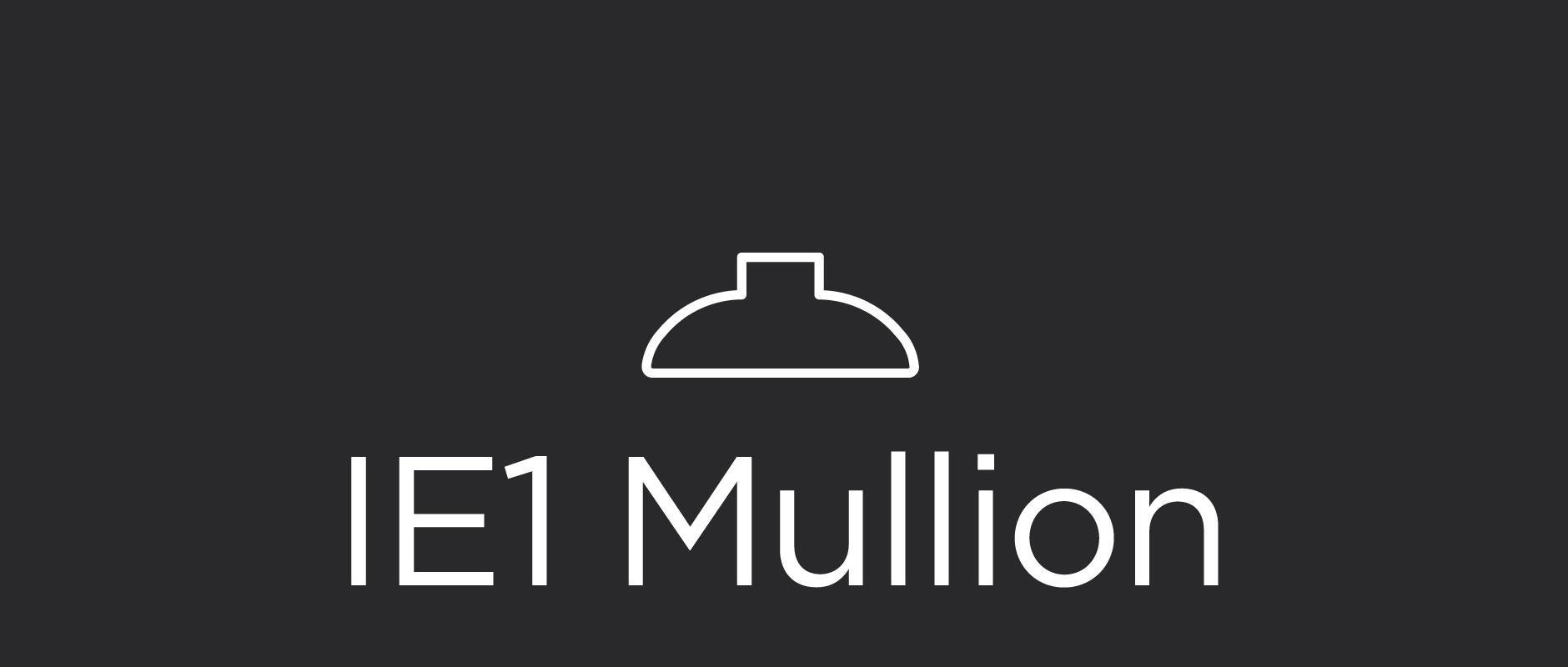IE1 mullion for divided lite cabinet doors