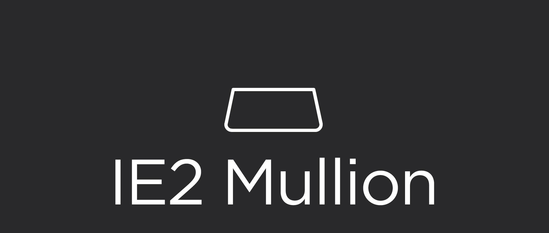 IE2 mullion for divided lite cabinet doors