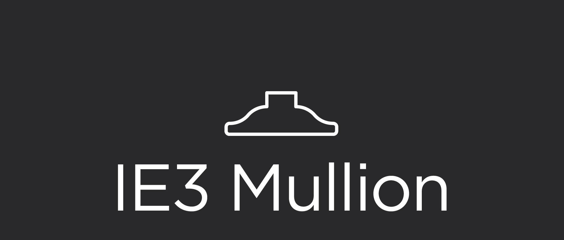 IE3 mullion for divided lite cabinet doors