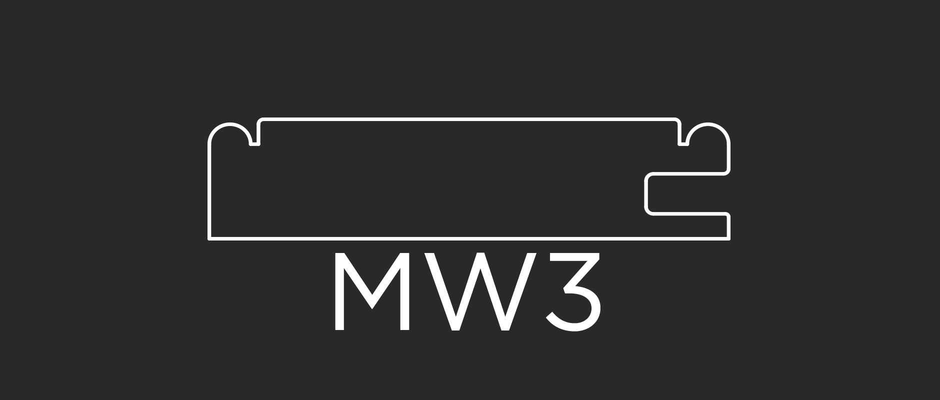 "MW3 mitered frame 3-1/8"" wide"