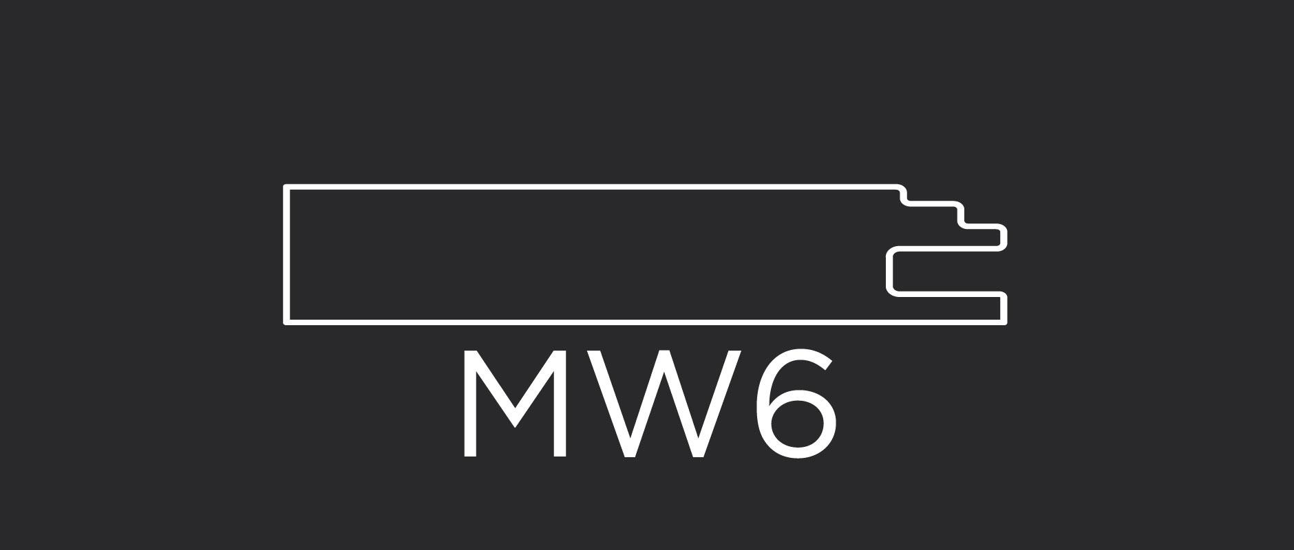 """MW6 mitered door frame 3-1/8"""" wide"""