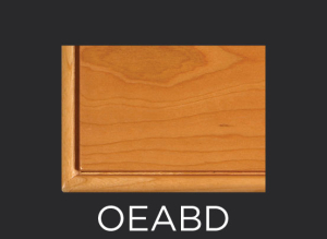OEABD slab drawer front beaded outside edge profile