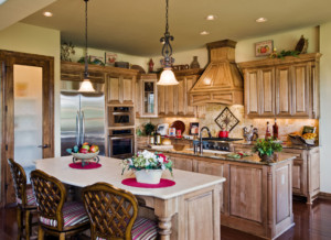 Kitchen Cabinet 5 - shown with M101 - M24, RP1 cabinet doors in Hard Maple, Select