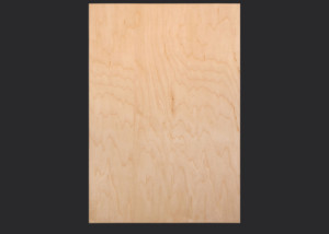 1.5 mm edgebanded door and drawer front- maple veneer