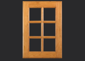C101 Glass door with 6 lites, OE3, IE1 in Cherry, Select