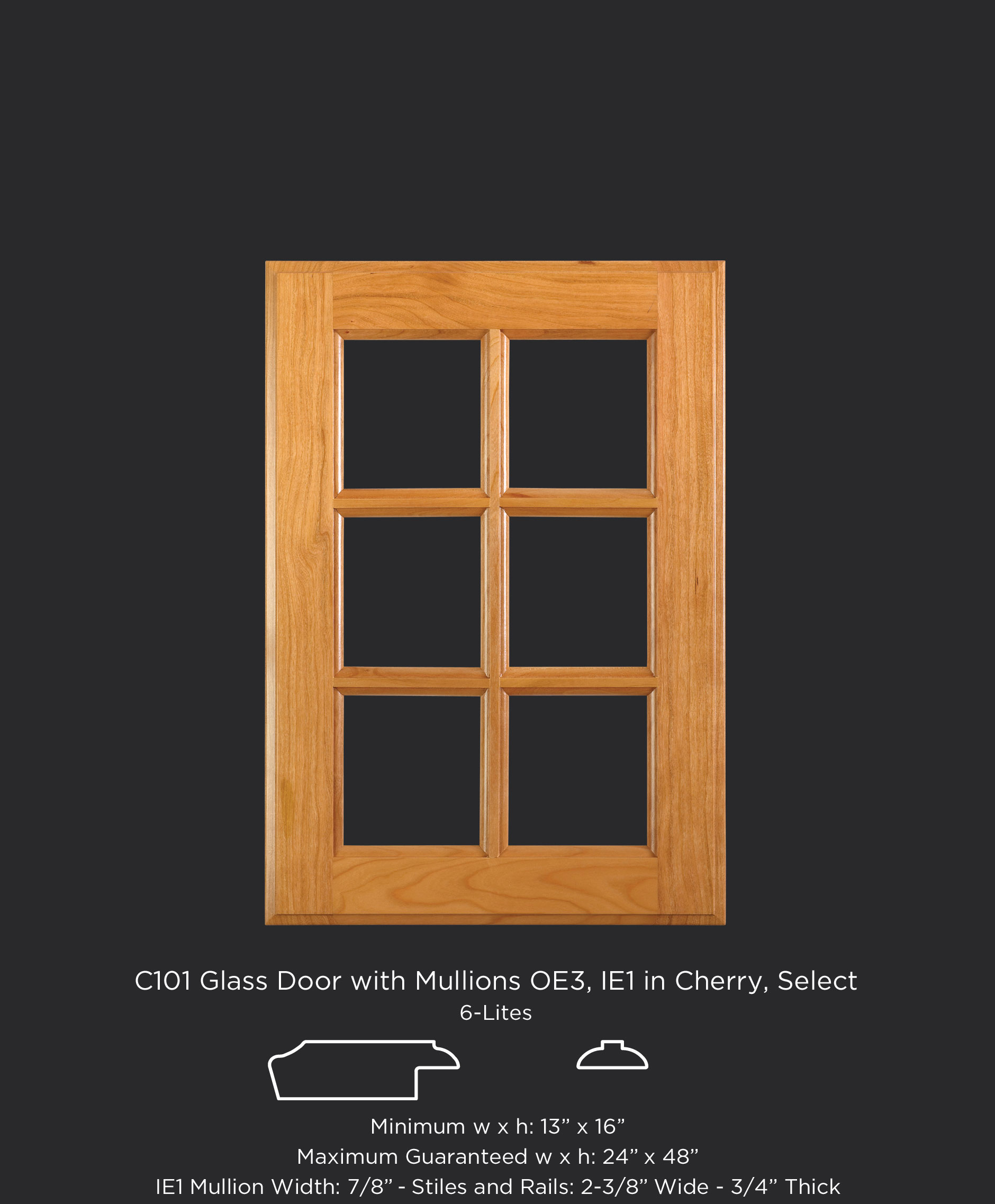 2275 #A66525 Radius Top 8 Lites OE5 IE1 – Walnut Select wallpaper Radius Top Entry Doors 38951880