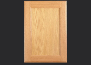 Cope and Stick Cabinet Door C101 OE3-IE1-FP1/4 in Red Oak, Select and slab drawer front with OE3
