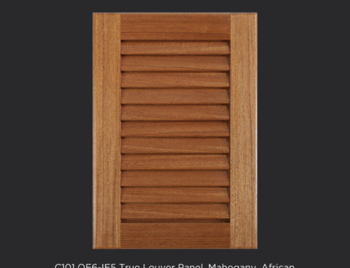 C101 OE6-IE5 Open Louver Panel Mahogany, African