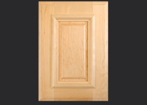 Cope and Stick Cabinet Door C101 Wide OE1-AIM2-RPAM2 in Hard Maple, Select - Slab drawer front with OE1