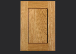 Cope and Stick Cabinet Door C101 Wide OE2-IE2-RP4 White Oak, Select and 5-piece drawer front with reduced rails
