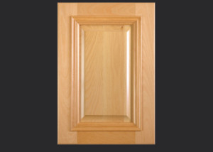 Cope and Stick Cabinet Door C101 Wide OE6-IE1-AFM2-RP1 in Beech, Select - Slab drawer front with OE6 and AFM2
