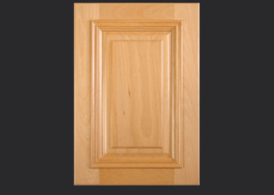 Cope and Stick Cabinet Door C101 Wide OE6-IE1-AFM2-RP11 in Beech, Select - Slab drawer front with OE6 and AFM2