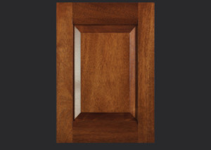 Combination Frame Cabinet Door CF101 MW8-RP3 in Mahogany, Select and 5-piece drawer front with MW8-D