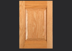 Combination Frame Cabinet Door CF101 MW9-RP3 in Red Oak, Select and 5-piece drawer front with MW9-D