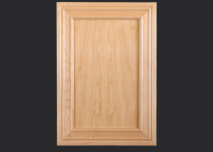 Mitered Cabinet Door M101 M1-FP3/8 in Hard Maple, Select and standard 5-piece drawer front