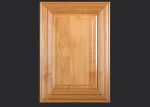 Mitered Cabinet Door M101 M2-RP11 in Alder, Select and 5-piece drawer front with M2-D