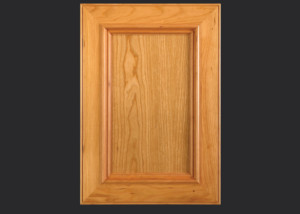 Mitered Cabinet Door M101 M3-AIM1-FP3/8 in Cherry, Select - Slab drawer front with OEABD