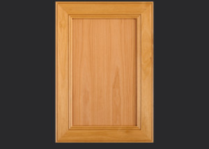 Mitered Cabinet Door M101 M4-FP3/8 in Alder, Select and standard 5-piece drawer front
