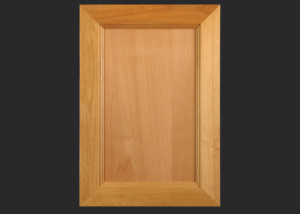 Mitered Cabinet Door M101 M7-FP3/8 in Alder, Select and standard 5-piece drawer front