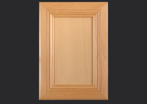 Mitered Cabinet Door M101 MW1-FP3/8 in Beech, Select and slab drawer front with OE6