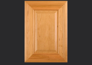 Mitered Cabinet Door M101 MW10-RP14 in Cherry, Select and 5-piece drawer front with MW10-D