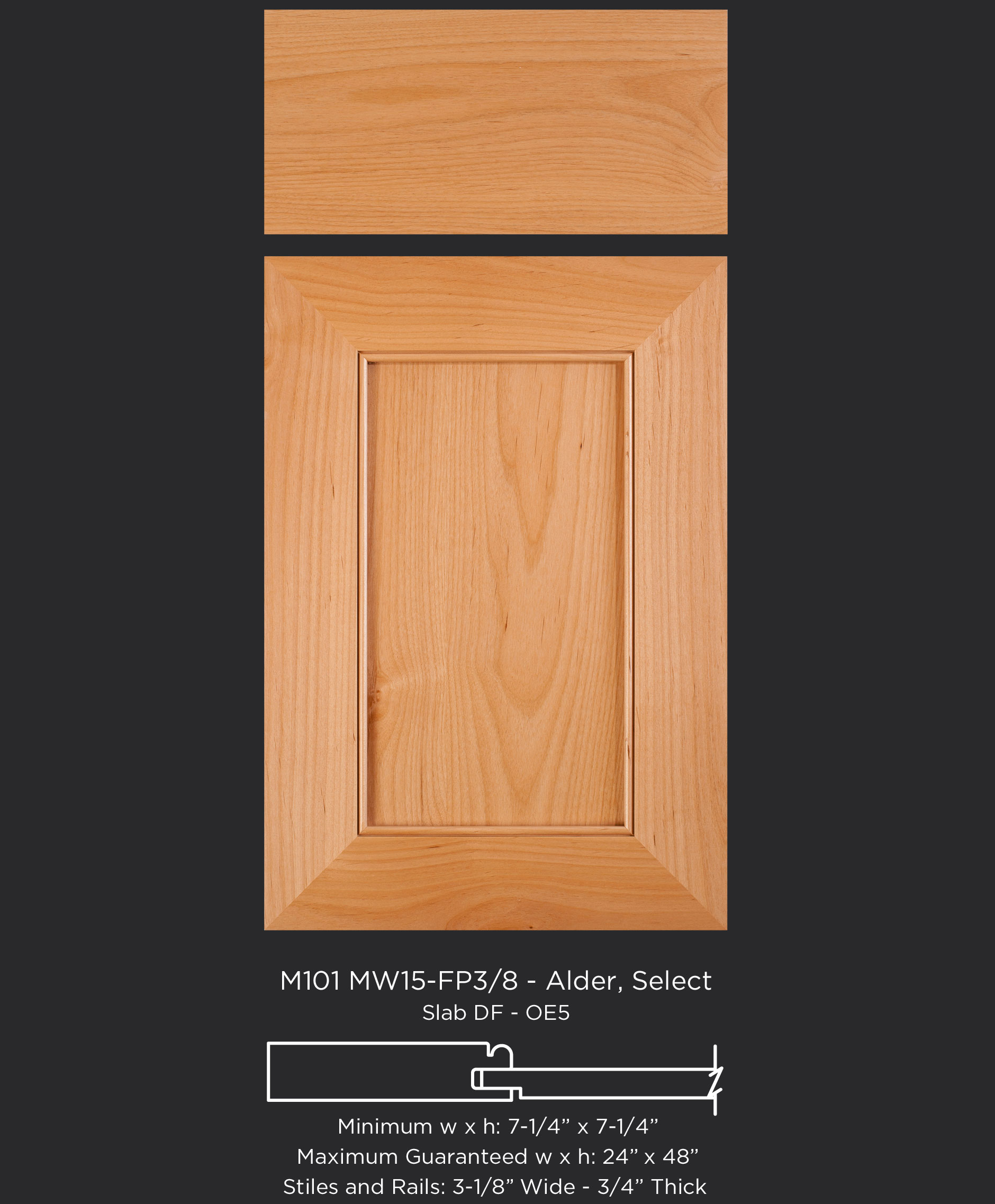 M101 Mw15 Fp38 Alder Select Taylorcraft Cabinet Door Company