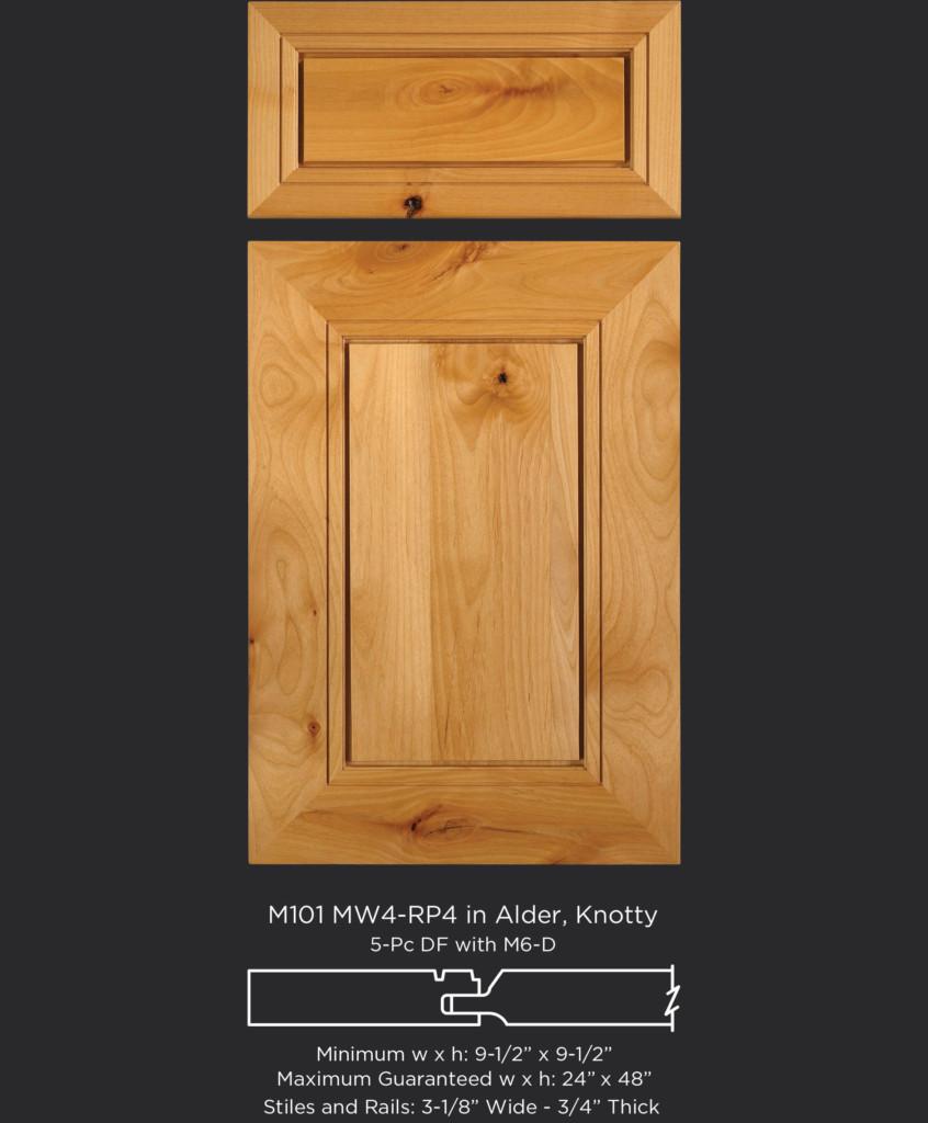 M101 Mw4 Rp4 Alder Knotty Taylorcraft Cabinet Door Company