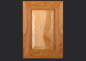 Mitered Cabinet Door M101 MW6-RP3 in Hickory, Natural and 5-piece drawer front with MW6-D