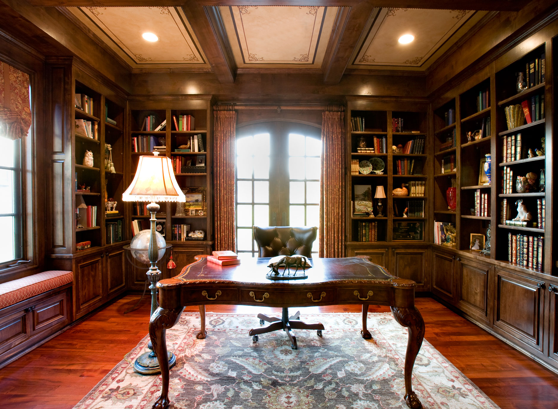 Study with library taylorcraft cabinet door company for Den study design ideas