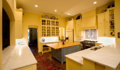 "Kitchen cabinet 11 shown with C101 - OE5, IE5, FP3/8"" cabinet doors"