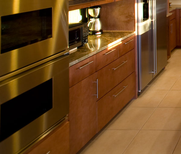 Attractive ... Cabinet Doors With Horizontal Grain On Panels. Bank Of Long Drawers