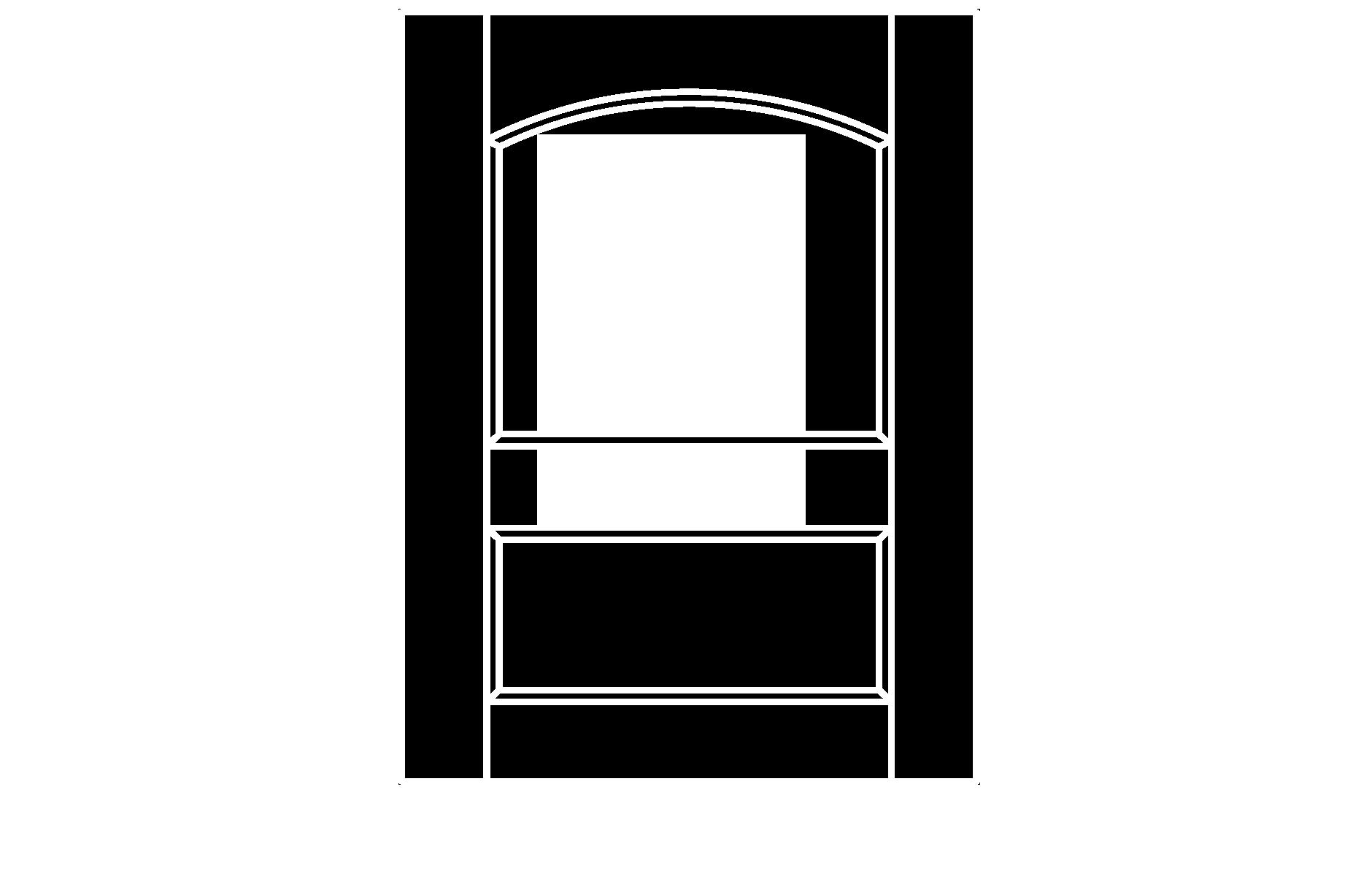 C213 cope and stick cabinet door configuration