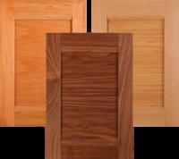Horizontal grain combination frame cabinet doors