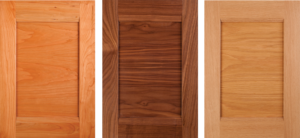 Combination Frame cabinet doors with horizontal panel grain
