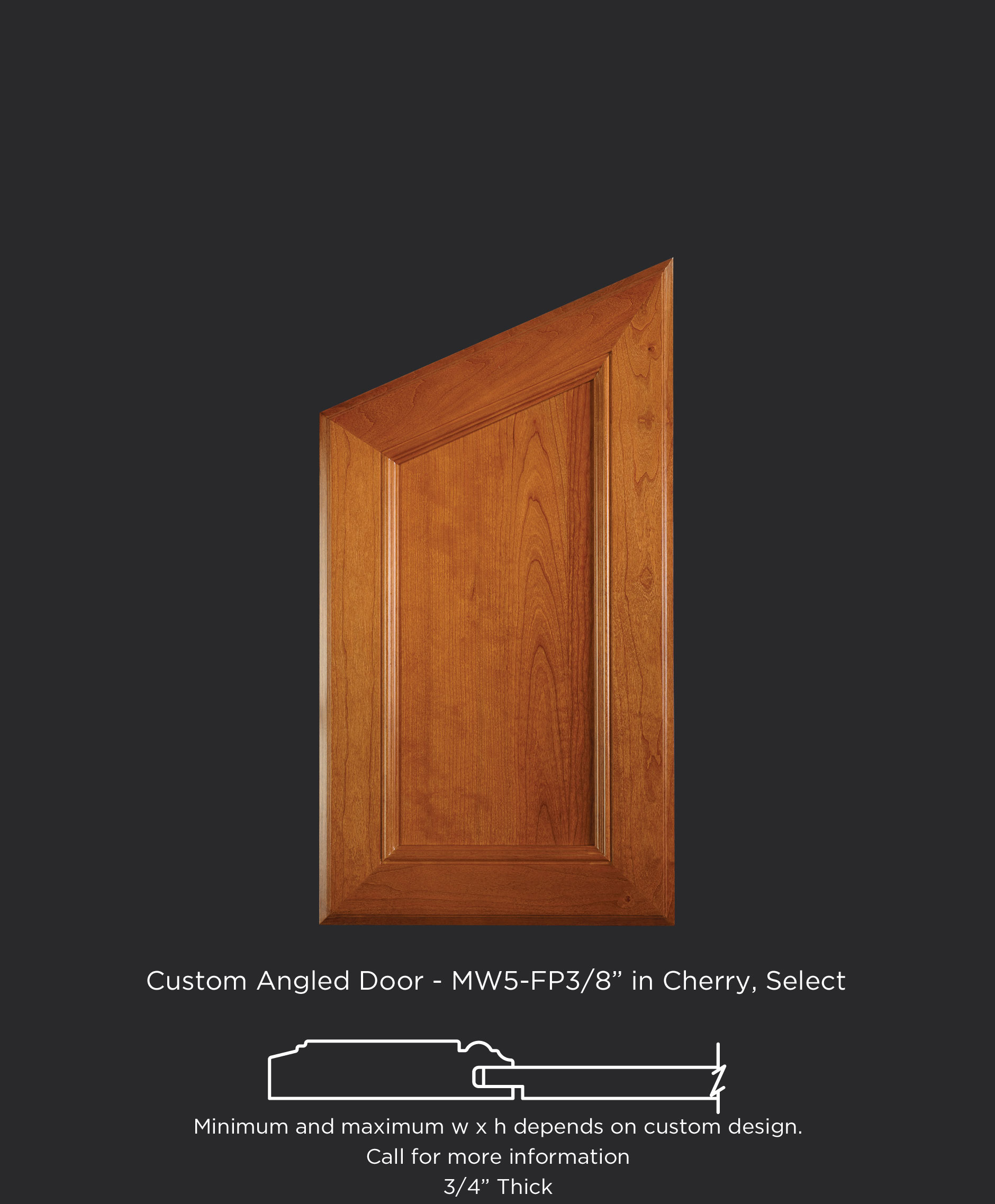 Angled Top Cabinet Door - TaylorCraft Cabinet Door Company